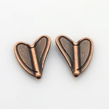 15mm Heart Alloy Beads