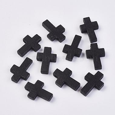 Black Cross Wood Pendants