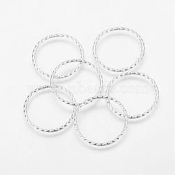 Тибетские серебряные разъемы / связывающие кольца, без свинца и без кадмия, античное серебро, диаметром около 30 мм , 26 мм внутренним диаметром, толщиной 2 мм