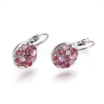 23mm Alloy+Austrian Crystal Earrings