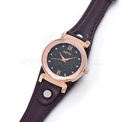 наручные часы высокого качества, кварцевые часы, Головка из сплава и ремешок из искусственной кожи, coconutbrown, 9-1 / 8 / 9-1 2 см); (23.1~24.2 мм; головка часов: 13~14x2.5~3 мм(WACH-I017-12C)