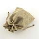 Polyester Imitation Burlap Packing Pouches Drawstring Bags(ABAG-R004-14x10cm-05)-2