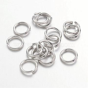 Platinum Ring Brass Close but Unsoldered Jump Rings