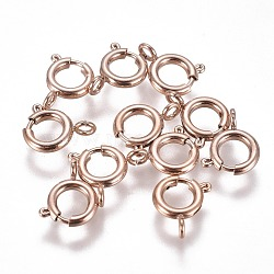 304 пружинные кольца из нержавеющей стали, розовое золото, 8x1.8 mm, отверстия: 1.8 mm(STAS-F224-02RG-C)