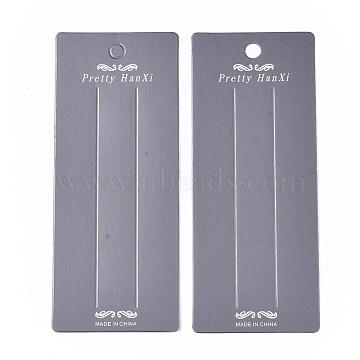 Cardboard Hair Clip Display Cards, Rectangle, Dark Gray, 17x7x0.05cm, Hole: 8mm(CDIS-S028-01)