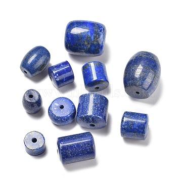 Natural Lapis Lazuli Beads, Mixed Barrel, 10~18.2x7~20mm, Hole: 2~2.8mm(G-R474-007)