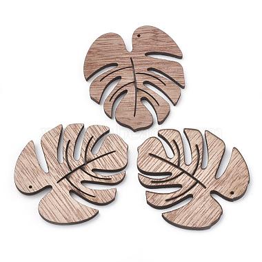 49mm Camel Leaf Wood Pendants