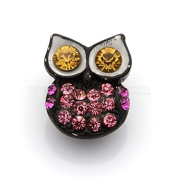 Black Alloy+Rhinestone Jewelry Buttons