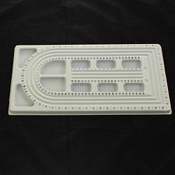 Plastique carte de conception perle, rectangle, grises , 480x260x16mm(CON-S037)