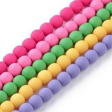 Chapelets de perle en pâte polymère manuel(CLAY-Q227-M)-1