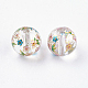 Flower Picture Printed Glass Beads(GLAA-E399-8mm-C01)-1