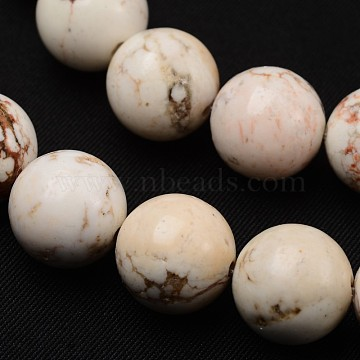 Natural Magnesite Beads Strands, Round, 8mm, Hole: 1mm, about 48pcs/strand, 15.7 inches(39.8cm)(TURQ-P027-23-8mm)
