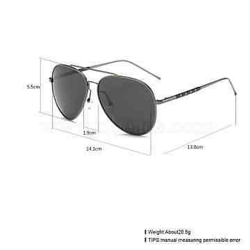 New Fashion Men Summer Sunglasses, Polarized Sunglasses, Gunmetal Aluminum Frames, Gray, 14.1x5.5cm(SG-BB19854-4)