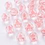 Transparent Acrylic Beads, Pumpkin, Pink, 17.5x16mm, Hole: 2mm, about 183pcs/500g