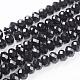 Faceted Rondelle Handmade Glass Beads(G02YI0E1)-1