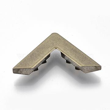 Book Scrapbooking Album Folders Iron Bag Corner Protectors, Antique Bronze, 30x30x8mm(IFIN-R203-05AB)