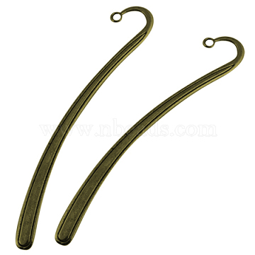 Tibetan Style Bookmarks, Lead Free, Nickel Free and Cadmium Free, Antique Bronze, 122x20mm, Hole: 2mm(X-TIBEP-PP007-AB-NF)