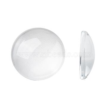 Transparent Glass Cabochons, Half Round/Dome, Clear, 18x5mm(X-GGLA-R026-18mm)