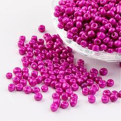 6 / 0 гранулы для выпечки, пурпурный, 4~5x3~4 mm, отверстия: 1~2 mm; о 427 шт / 50 г