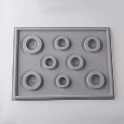 Plastic Bead Design Boards, DarkGray, 34.8x26x1.6cm(X-TOOL-D052-01)