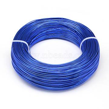 Aluminum Wire, Bendable Metal Craft Wire, for DIY Jewelry Craft Making, Royal Blue, 10 Gauge, 2.5mm; 35m/500g(114.8 Feet/500g)(AW-S001-2.5mm-09)