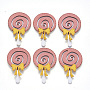 Pink Faux Suede Ornament Accessories(FIND-R075-02)
