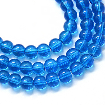 10mm RoyalBlue Round Glass Beads