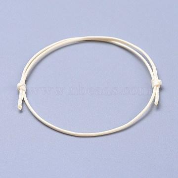Eco-Friendly Korean Waxed Polyester Cord Bracelet Making, Linen, 10-5/8 inch~11 inches(27~28cm); 1mm(BJEW-JB04256-02)