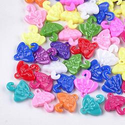 Пластиковые подвески, зонтик, cmешанный цвет, 32x27.5x8 mm, отверстия: 2.5 mm; о 250 шт / 500 г(KY-T009-12)