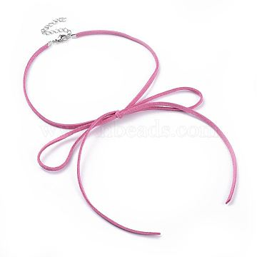 HotPink Mixed Material Necklaces