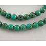 "Natrual HuBei Turquoise Beads, Round, 4mm, Hole: 0.7mm; about 100pcs/strand, 16"""