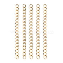 304 Stainless Steel Chain Extenders, Golden, 47~53x3mm(STAS-E104-42G)