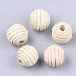 Natural Wood Beads, Beehive Beads, AntiqueWhite, 12x11mm, Hole: 3mm(X-WOOD-S053-48)