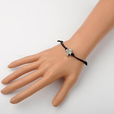 Waxed Cotton Cord Bracelets(X-BJEW-JB01368-02)-2