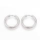 304 Stainless Steel Hoop Earrings(X-MAK-R021-15mm)-1