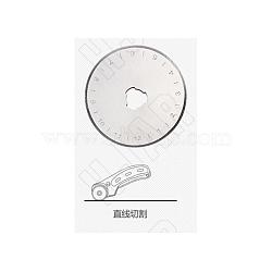 lame ronde, couteaux couteaux, cuir, papier, couteau de coupe en tissu, platine, 45x0.3 mm(TOOL-WH0015-11)