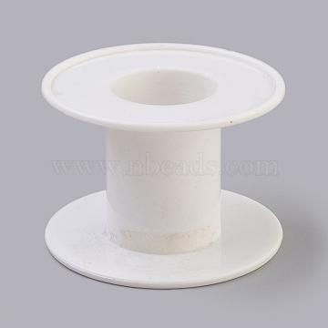 bobines de plastique, roue, blanc, 62x41 mm, trou: 26 mm, axe central: 39x30 mm(TOOL-XCP0001-17)