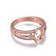 Environmental Brass Finger Ring Components(MAK-F030-10RG-NR)-2