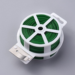 Multifunctional Twist Plant Ties, with Cutter, for Gardening, Home, Office, Green, 2.3mm, about 109.36 yards(100m)/roll(OCOR-WH0052-37B)