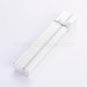 Silver Rectangle Paper Bracelet Box