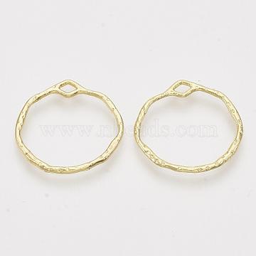 Alloy Open Back Bezel Pendants, For DIY UV Resin, Epoxy Resin, Pressed Flower Jewelry, Ring, Light Gold, 21.5x22.5x1.5mm, Hole: 3x1.5mm(X-PALLOY-S121-82C)