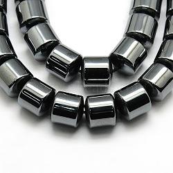 класс аа магнитное синтетические нити гематит колонки шарик, 10x10 mm, отверстия: 1 mm; о 200 шт / прядь, 16(G-G644-C-01)