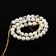 1 Strand White Round Natural Howlite Beads Strands(X-TURQ-G091-8mm)-2