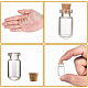 Mini Clear Glass Vials Bead Storage Containers for Wishing Bottle Making(X-CON-Q017)-4