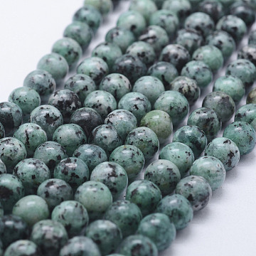 Nature Labradorite Beads Strands, Dyed, Round, Teal, 8~8.5mm, Hole: 1mm, about 47~49pcs/strand, 14.5 inches~14.9 inches(37~38cm)(X-G-E443-A20)