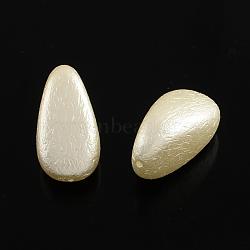 Perles d'imitation perles en plastique ABS, goutte , blanc antique, 24.5x13x12mm, trou: 1 mm; environ 200 pcs / 500 g(SACR-Q105-13)