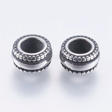 8mm Rondelle Stainless Steel Beads