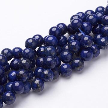 8mm DarkBlue Round Lapis Lazuli Beads