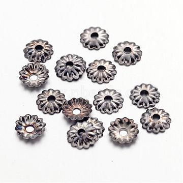 Gunmetal Iron Bead Caps