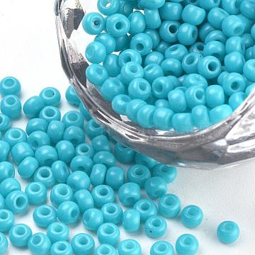 3mm DeepSkyBlue Glass Beads
